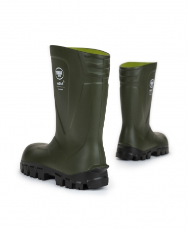 Cizme protectie Bekina MidliteX SolidGrip, O4, verde/negru, din spate