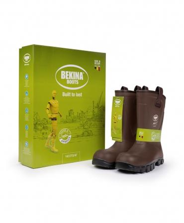Cizme protectie Bekina RigliteX SolidGrip, S5, maro/negru, cutie