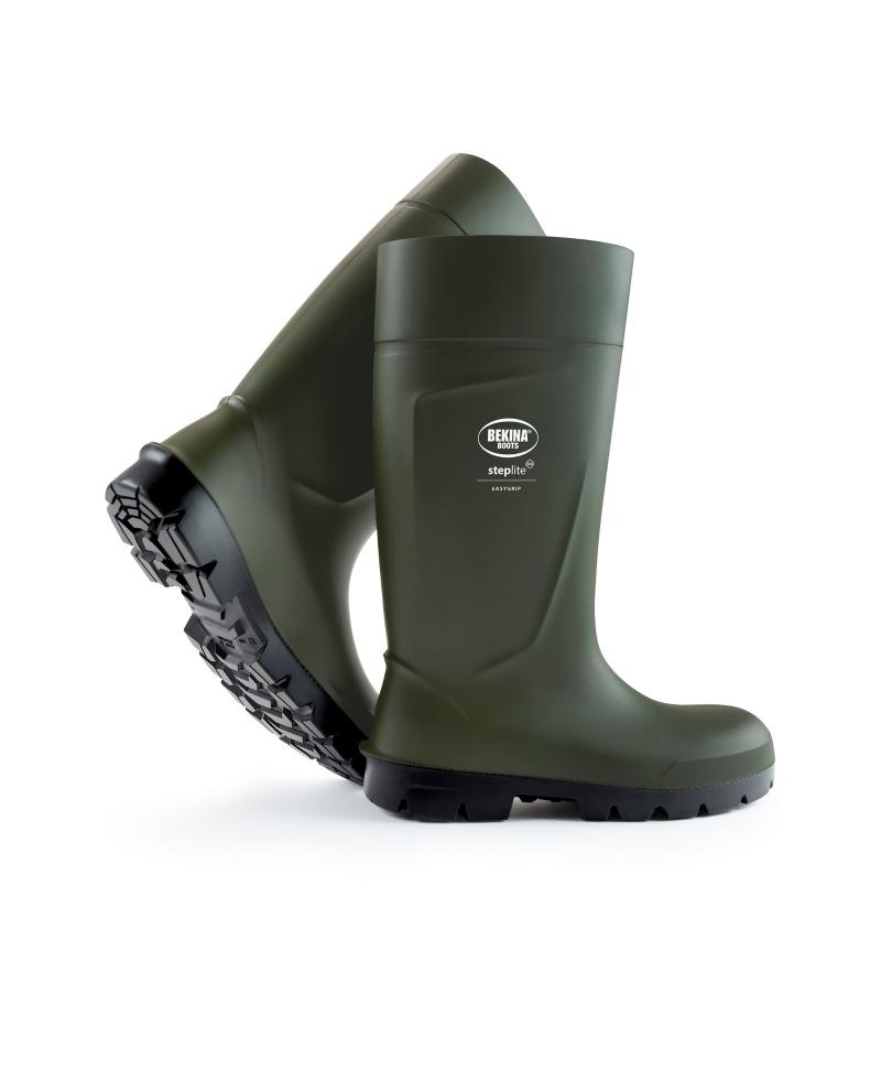 Cizme protectie Bekina Steplite EasyGrip, O4, verde/negru