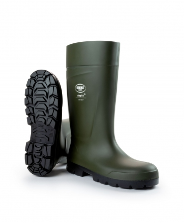 Cizme protectie Bekina Steplite EasyGrip, O4, verde/negru, din unghi