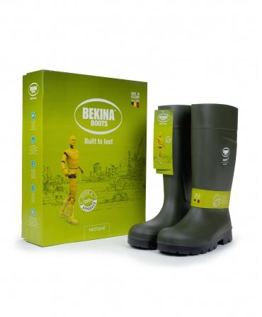 Cizme protectie Bekina Steplite EasyGrip, O4, verde/negru, cutie