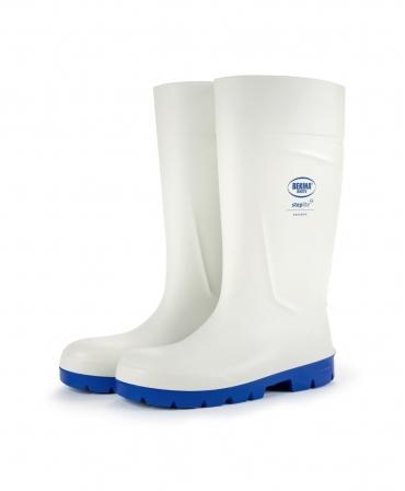 Cizme protectie Bekina Steplite EasyGrip, O4, alb/albastru, profil