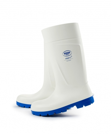 Cizme protectie Bekina Steplite EasyGrip, O4, alb/albastru, lateral