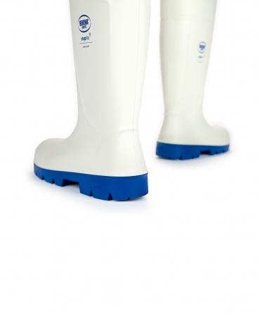 Cizme protectie Bekina Steplite EasyGrip, O4, alb/albastru, din spate