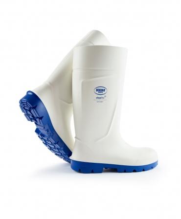 Cizme protectie Bekina Steplite EasyGrip, S4, alb/albastru