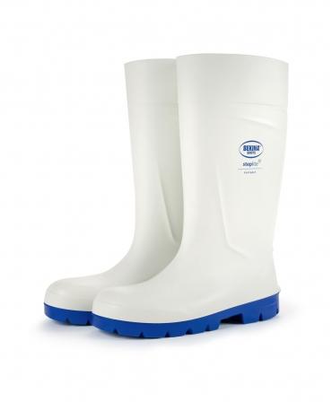Cizme protectie Bekina Steplite EasyGrip, S4, alb/albastru, profil