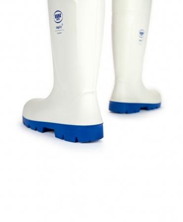 Cizme protectie Bekina Steplite EasyGrip, S4, alb/albastru, din spate