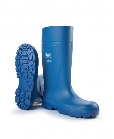 Cizme protectie Bekina Steplite EasyGrip, S4, albastru/albastru, din unghi