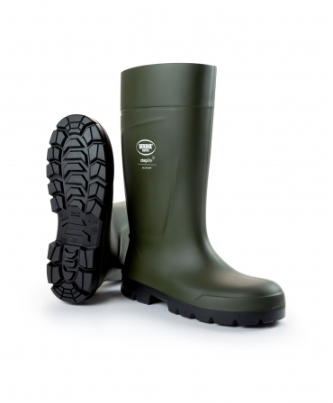 Cizme protectie Bekina Steplite EasyGrip, S4, verde/negru, din unghi