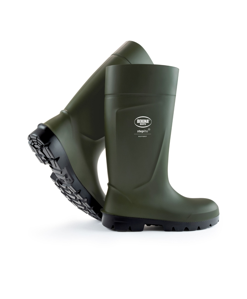 Cizme protectie Bekina Steplite EasyGrip, S5, verde/negru
