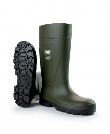 Cizme protectie Bekina Steplite EasyGrip, S5, verde/negru, din unghi