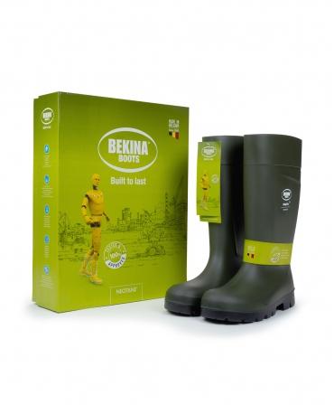Cizme protectie Bekina Steplite EasyGrip, S5, verde/negru, cutie