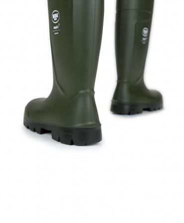 Cizme protectie Bekina Steplite EasyGrip, S5, verde/negru, din spate
