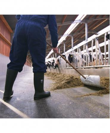 Cizme protectie Bekina Steplite EasyGrip, S5, verde/negru, fermier curatand