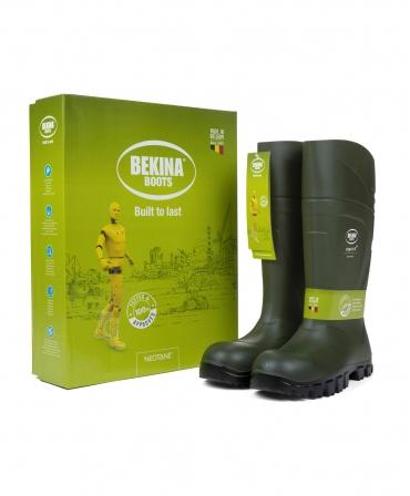 Cizme protectie Bekina StepliteX SolidGrip, O4, verde/negru, cutie