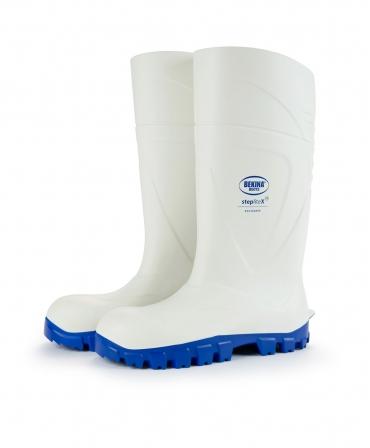 Cizme protectie Bekina StepliteX SolidGrip, S4, alb/albastru, lateral