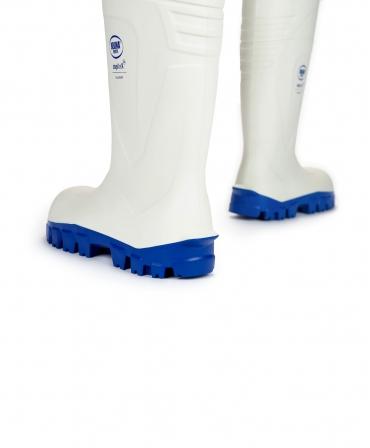 Cizme protectie Bekina StepliteX SolidGrip, S4, alb/albastru, din spate
