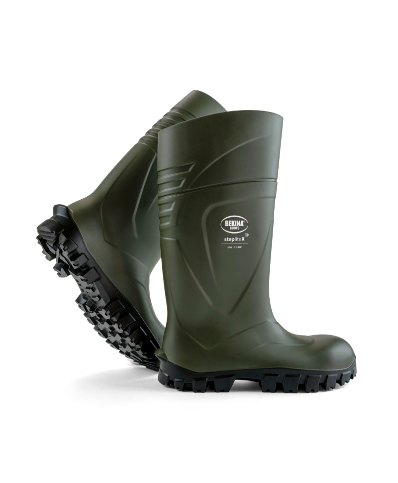 Cizme protectie Bekina StepliteX SolidGrip, S4, verde/negru