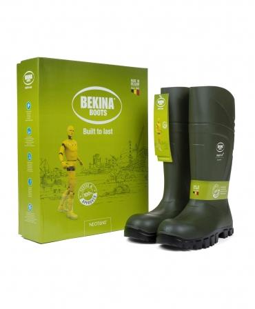 Cizme protectie Bekina StepliteX SolidGrip, S4, verde/negru, cutie