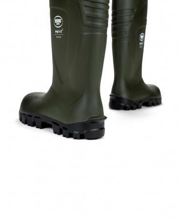 Cizme protectie Bekina StepliteX SolidGrip, S4, verde/negru, din spate