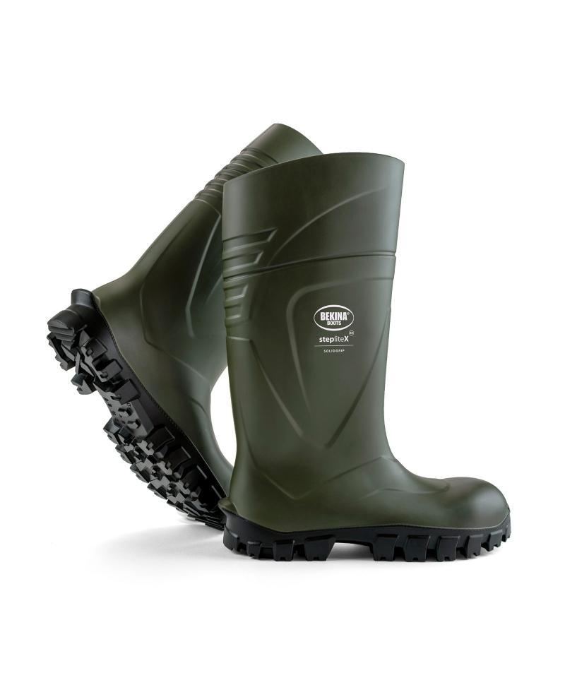 Cizme protectie Bekina StepliteX SolidGrip, S5, verde/negru