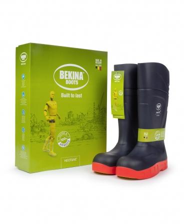 Cizme protectie Bekina StepliteX StormGrip, O4, bleumarin/portocaliu, cutie