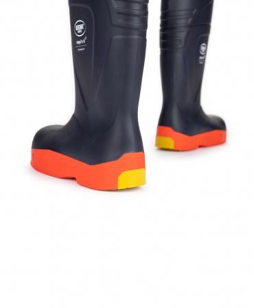 Cizme protectie Bekina StepliteX StormGrip, O4, bleumarin/portocaliu, din spate