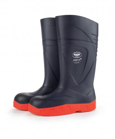 Cizme protectie Bekina StepliteX StormGrip, S5, bleumarin/portocaliu, din profil