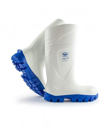 Cizme protectie Bekina StepliteX ThermoProtec, S4, alb/albastru
