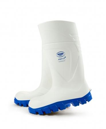 Cizme protectie Bekina StepliteX ThermoProtec, S4, alb/albastru, lateral