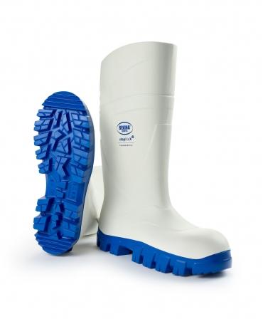Cizme protectie Bekina StepliteX ThermoProtec, S4, alb/albastru, din unghi