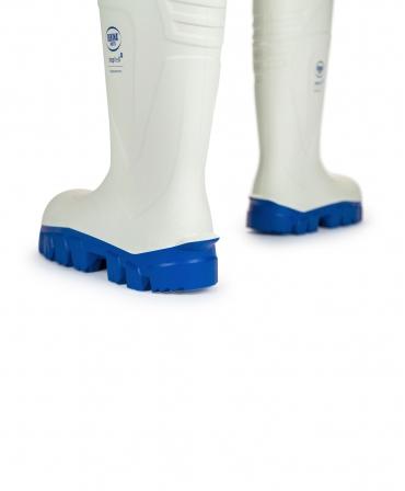 Cizme protectie Bekina StepliteX ThermoProtec, S4, alb/albastru, din spate