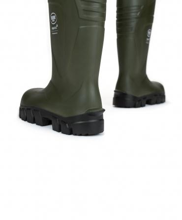 Cizme protectie Bekina StepliteX ThermoProtec, S5, verde/antracit, din spate
