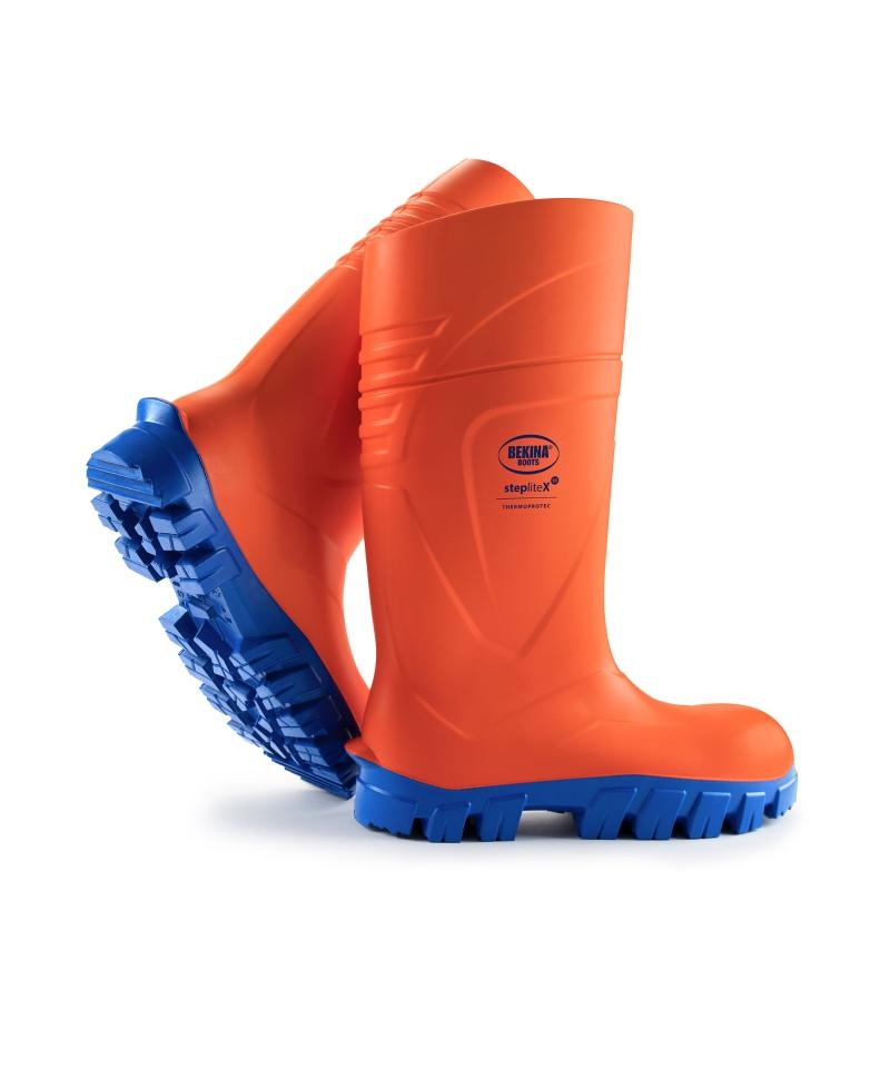Cizme protectie Bekina StepliteX ThermoProtec, S5, portocaliu/albastru