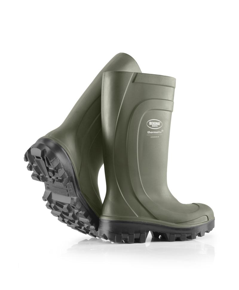 Cizme protectie Bekina Thermolite IceShield, S4, verde/antracit