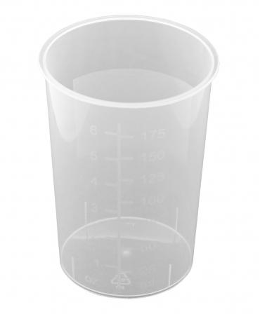 Pahare gradate plastic, set 10 bucati