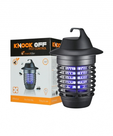 Aparat de protectie impotriva insectelor cu bec UV 5 W, Knock Off InsectKiller, langa cutie