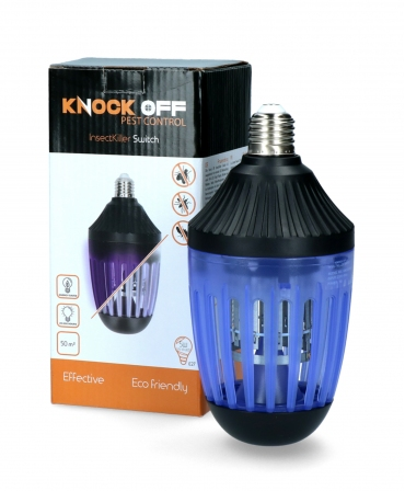 Lampa de protectie impotriva insectelor cu led si lumina UV, Knock Off InsectKiller Switch, langa cutie