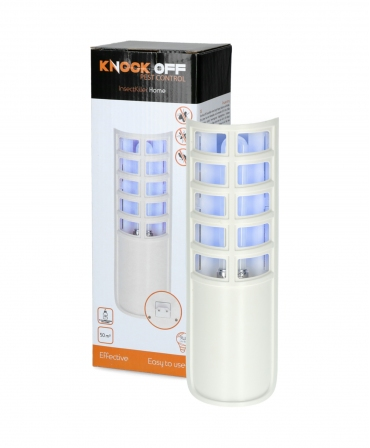 Aparat de protectie impotriva insectelor cu bec UV 9 W si hartie adeziva, Knock Off InsectKiller Home, langa cutie