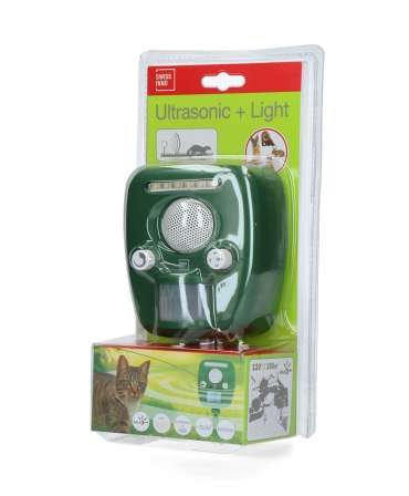 Dispozitiv cu ultrasunete pentru alungarea animalelor, Swissinno Solar Pro