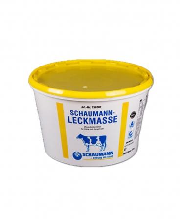 Bloc de lins cu vitamine si minerale pentru bovine, Schaumann Leckmasse, galeata 25 kg