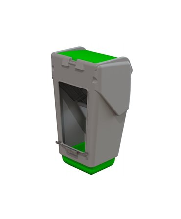 Caseta plastic furaje combinate CombiFeeder pentru cusetele individuale vitei CalfOTel spate