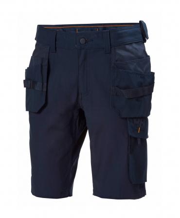 Pantaloni de lucru scurti Helly Hansen Oxford Construction, bleumarin, fata