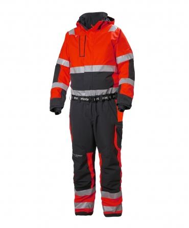 Combinezon de lucru de iarna Helly Hansen Alna 2.0 Winter, reflectorizant, HVC3, rosu/negru, fata
