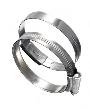 Coliere metalice din inox cu surub, diametru 70-90mm, set 5 bucati, Eclipse