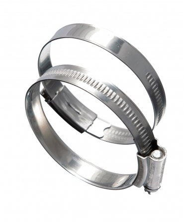 Coliere metalice din inox cu surub, diametru 220-250mm, set 10 bucati, Eclipse