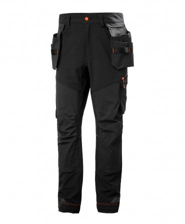 Pantaloni de lucru Helly Hansen Kensington Construction, negri, fata