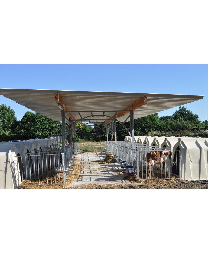 Veranda pentru cusete vitei, Calf Garden H&L, structura de baza fara acoperis