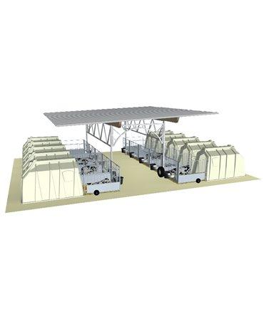 Veranda pentru cusete vitei, Calf Garden H&L, structura de baza fara acoperis, schita